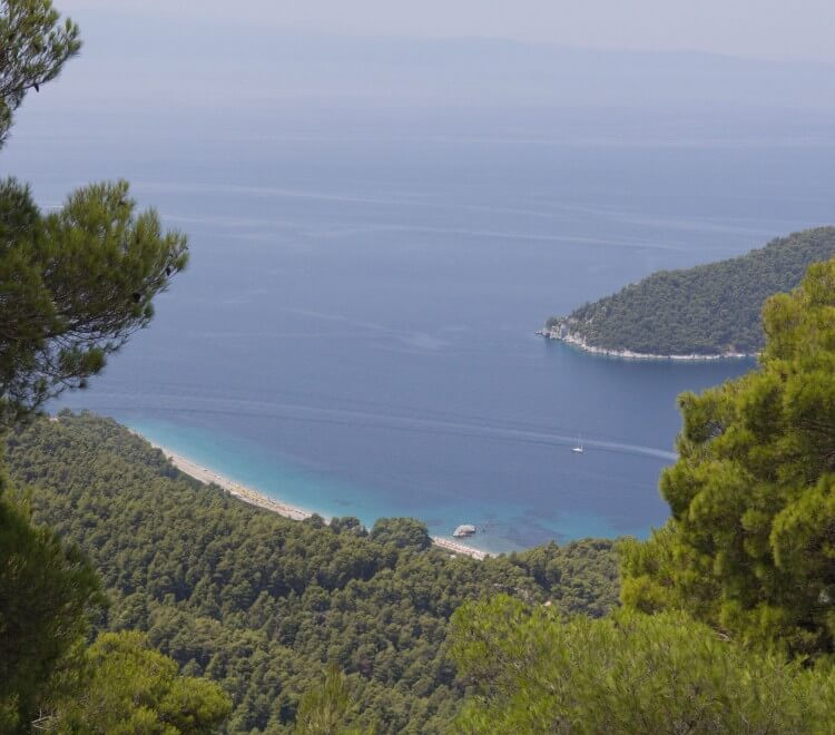 Delfi mountain-the scenic route of Skopelos