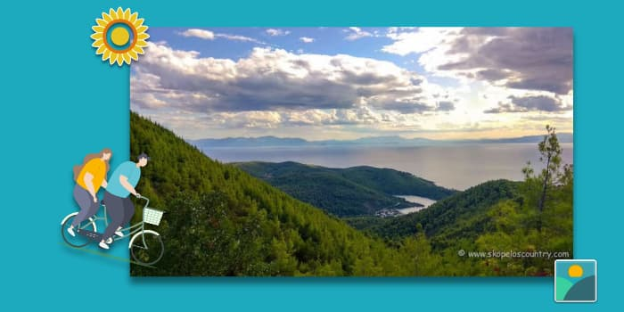 Skopelos Beaches - Panormos Beach -the Bay from above