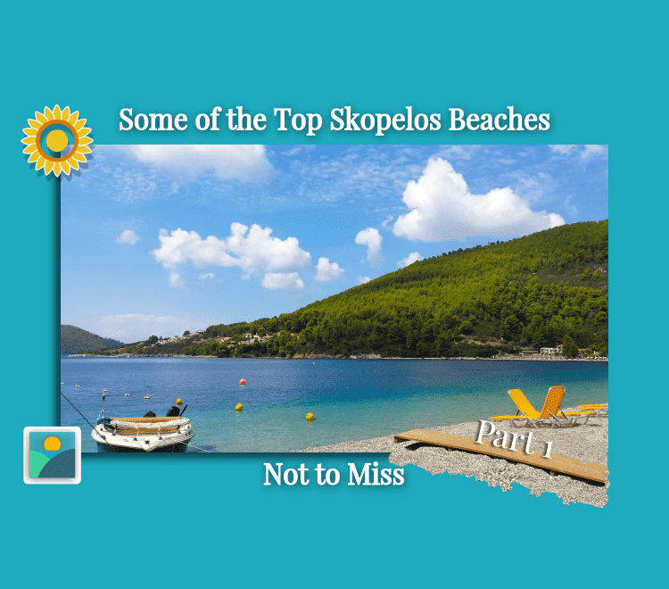 Panormos Beach on the west side of Skopelos - Best Beaches of Skopelos