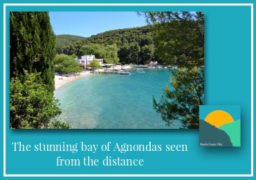 Day 6 of 7-Perfect Itinerary of Skopelos-Agnondas Bay as seen from distance