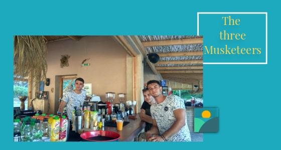 Cheerful Bar Staff at Glysteri Beach