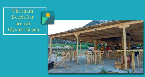 Glysteri Beach Bar - The main area