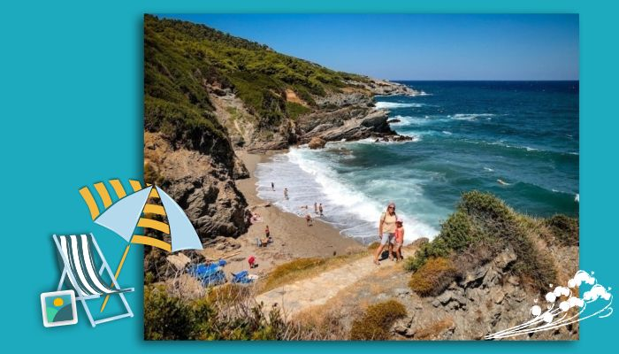 Exploring the beaches in the NE during our family holiday in Skopelos